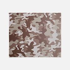Camouflage Desert Throw Blanket