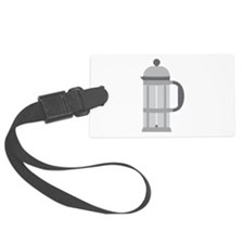 French Press Luggage Tag