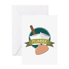 Plumber Greeting Cards