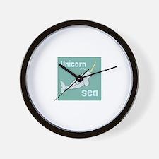 Unicorn Of The Sea Wall Clock