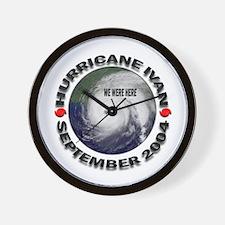 Hurricane Ivan We Were Here Wall Clock