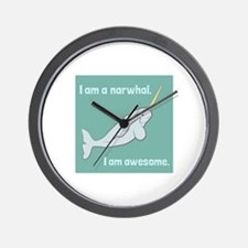 I Am A Narwhal Wall Clock