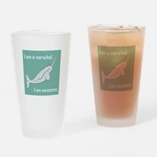 I Am A Narwhal Drinking Glass