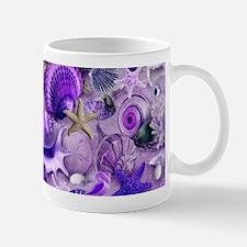 Purple Seashells and Starfish Mugs