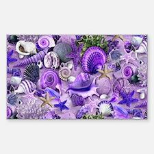 Purple Seashells and Starfish Decal