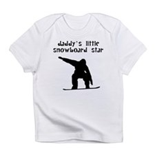 Daddys Little Snowboard Star Infant T-Shirt