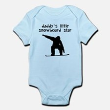 Daddys Little Snowboard Star Body Suit
