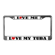 Love My Tuba License Plate Frame