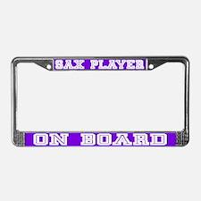 Sax Player License Plate Frame