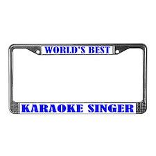 Karaoke Singer License Plate Frame
