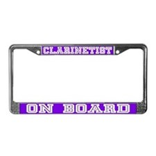 Clarinet License Plate Frame