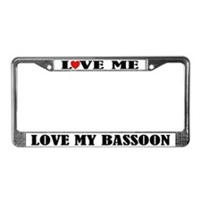 Love My Bassoon License Plate Frame