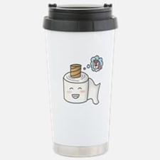Toilet Paper Unicorn Dream Big Travel Mug