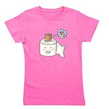 Toilet Paper Unicorn Dream Big Girl's Tee