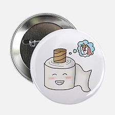 """Toilet Paper Unicorn Dream Big 2.25"""" Button"""