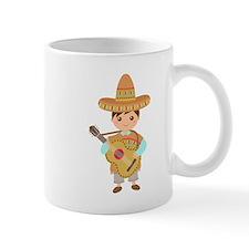 Cute Boy Guitar Mexican Fiesta Mugs