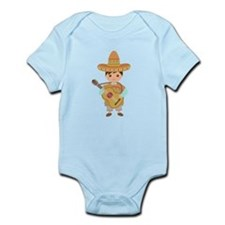 Cute Boy Guitar Mexican Fiesta Body Suit