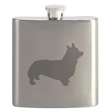 corgi gray 1C Flask
