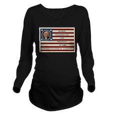 Vote for President Long Sleeve Maternity T-Shirt