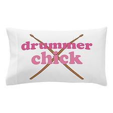 Drummer Chick music Pillow Case