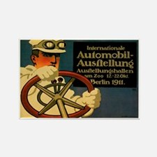Berlin Auto Exhibition 1911 Rectangle Magnets