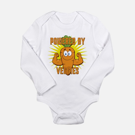 Powered by Veggies Long Sleeve Infant Bodysuit