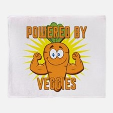 Powered by Veggies Throw Blanket