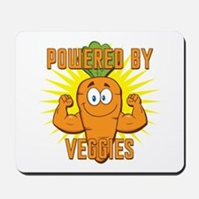 Powered by Veggies Mousepad