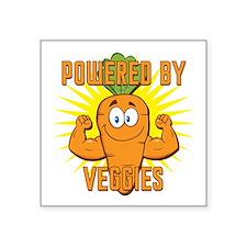 "Powered by Veggies Square Sticker 3"" x 3"""