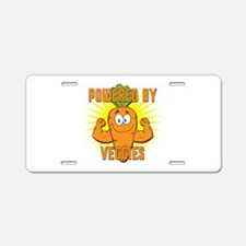 Powered by Veggies Aluminum License Plate