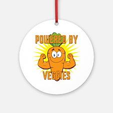 Powered by Veggies Ornament (Round)