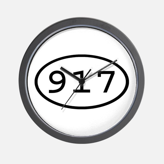 917 Oval Wall Clock