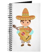 Cute Boy Guitar Mexican Fiesta Journal