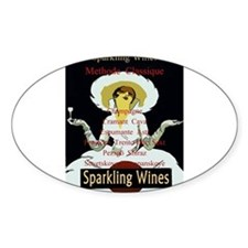 Vintage Lady Sparkling Wine Decal