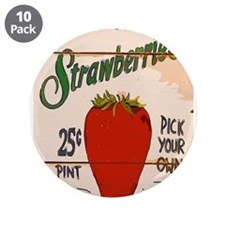 "Unique Fruit 3.5"" Button (10 pack)"