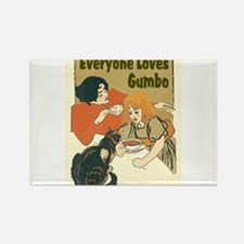 Everyone Loves Gumbo Magnets