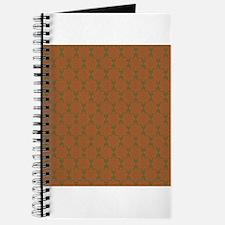 Orange Green Ornamental Flourish Pattern Journal