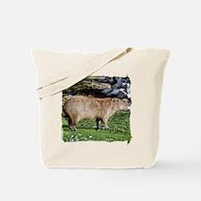Capybara with Rocks Tote Bag