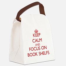 Unique Book shelves Canvas Lunch Bag