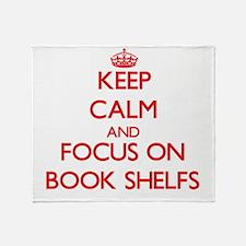 Cute Book shelves Throw Blanket