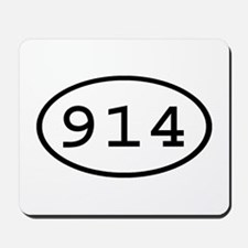 914 Oval Mousepad