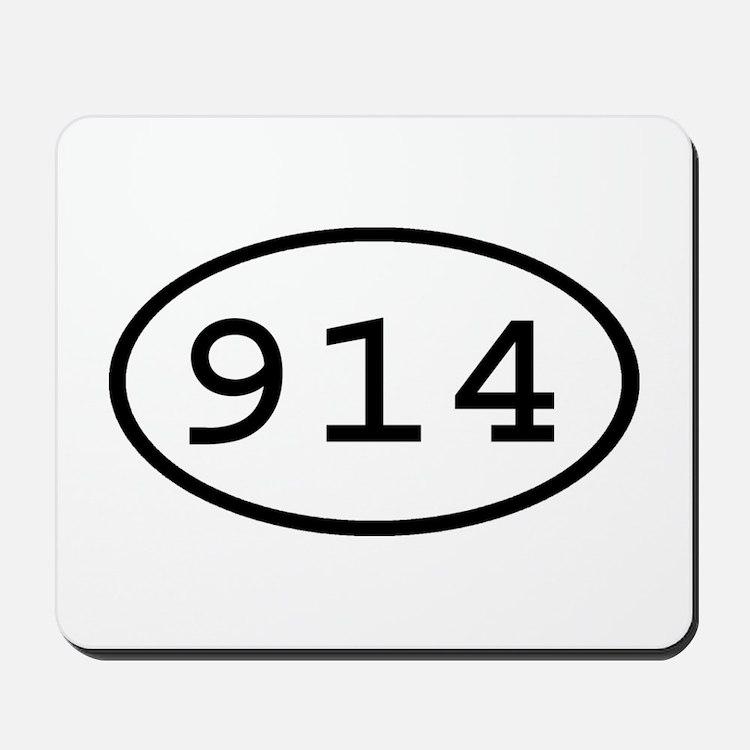 914 Oval Mousepad