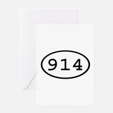 914 Oval Greeting Cards (Pk of 10)