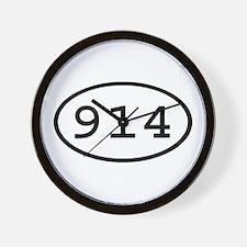 914 Oval Wall Clock