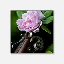 """Summer Rose Garden Shotgun  Square Sticker 3"""" x 3"""""""