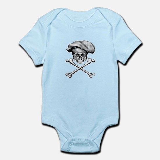 Chef Skull and Crossbones Body Suit
