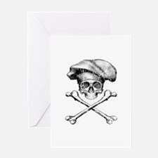 Chef Skull and Crossbones Greeting Cards