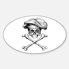 Chef Skull and Crossbones Decal