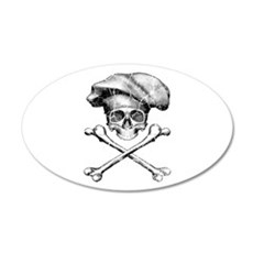 Chef Skull and Crossbones Wall Decal