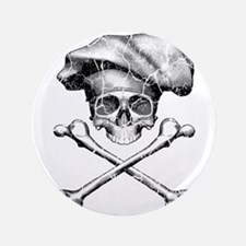 """Chef Skull and Crossbones 3.5"""" Button"""